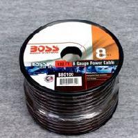 B8G100 -  Boss black 8 ga Power Cable 100ft